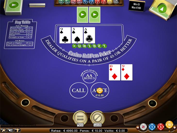 Casino Hold'em pöytä