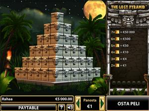 Tältä näyttää Lost Pyramid arpa