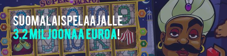 Suomalaismiehelle 3.2 miljoonaa euroa Arabian Nightsista!