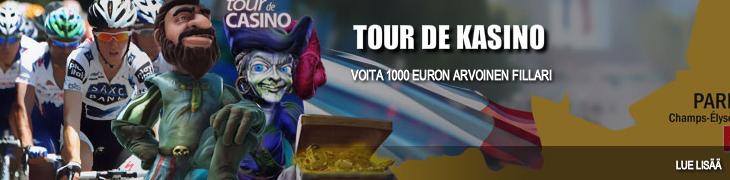 Osallistu Bet24:n Tour de Casinoon - voita 1000 euron arvoinen fillari