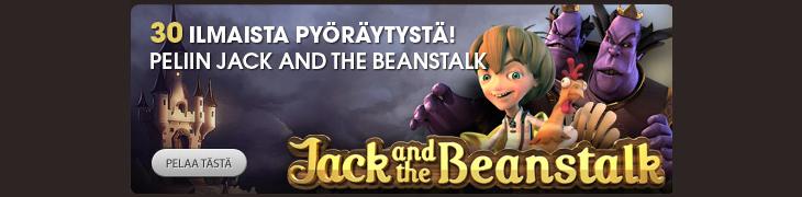 Talleta Betsafelle ja tienaa 30 ilmaiskierrosta Jack and the Beanstalkiin