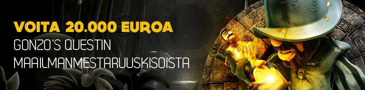 Gonzo's Questin maailmanmestaruuskisat käynnistyi - 50.000€ palkintopotti!