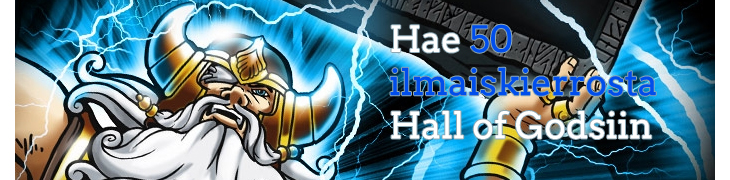 Pelaa Betsafella itsellesi 50 ilmaiskierrosta Hall of Godsiin