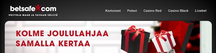 Betsafelta aikaiset joululahjat - freespinnejä ja ilmaista pelirahaa