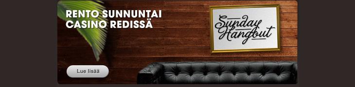 Betsafen casinolla vietetään rentoa sunnuntaita - lunasta 10 euron reload-bonus