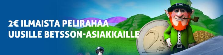 Betsson juhlii suomalaista voittajaa - uusille pelaajille 2€ ilmaista pelirahaa