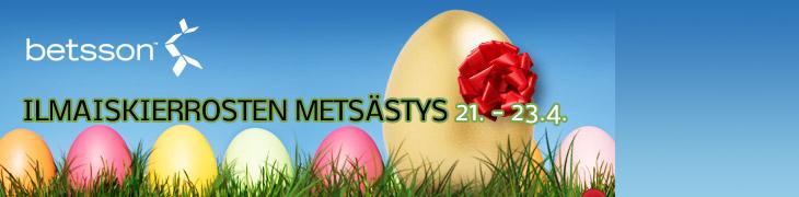 Betssonilla piilotettuja ilmaiskierroksia pääsiäisenä