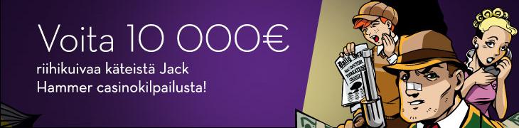 10 000€ Jack Hammer -kilpailu käynnistyi Betssonilla