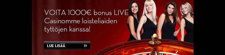 Pidä hauskaa Betssonin Live Casinon tyttöjen kanssa ja voita 1000 euroa!