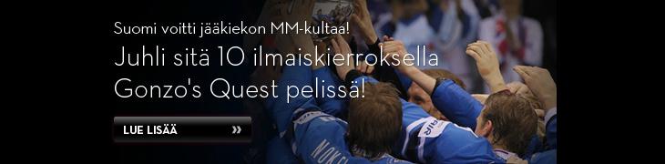 Betssonilta kymmenen ilmaiskierrosta Suomen MM-kullan kunniaksi