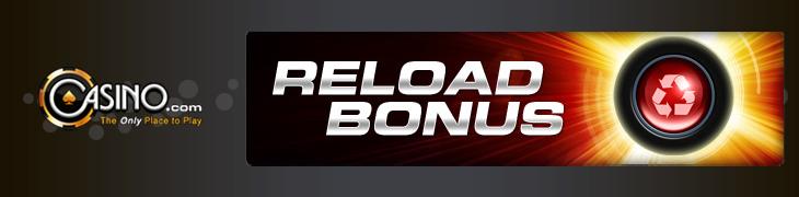 Casino.comilta tiistaisin 25% reload-bonus
