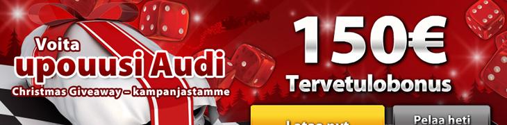 Casino.comin joulukisassa jaossa upouusi Audi ja 10.000 muuta palkintoa!