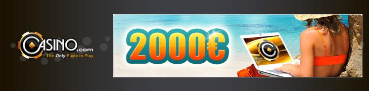Avaa pelitili Casino.comiin ja voita 2000 euron matkalahjakortti