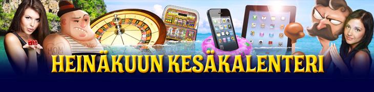 CasinoEurolla heinäkuun kesäkalenteri - katso päivittäiset tarjoukset