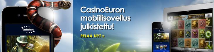 CasinoEuro lanseerasi ensimmäisenä mobiilicasinon iPhonelle ja iPadille!