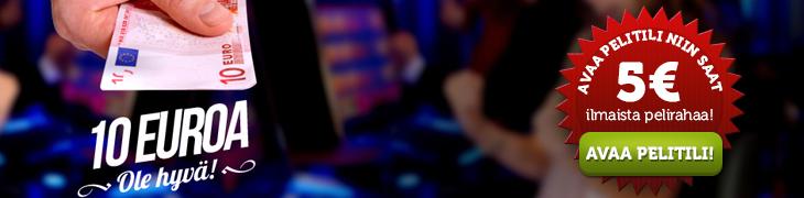 Casinohuoneelta ja ComeOnilta ilmaista pelirahaa uusille pelaajille