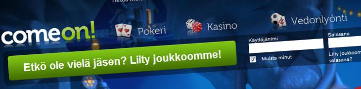 ComeOnin nettisivut ja asiakaspalvelu nyt suomeksi!