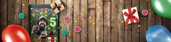 Gonzo juhlii viisivuotissynttäreitä - ilmaiskierroksia tarjolla