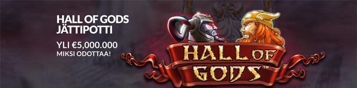Hall of Godsin jackpot ylitti 5 miljoonaa