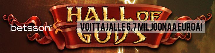 Hall of Godsin jackpot putosi lauantaina