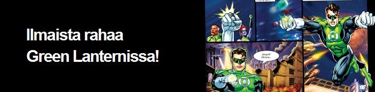 Betsafelta 3 euroa ilmaista Green Lantern -peliin