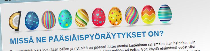 Myös Kolikkopelit.comissa piilotettuja pääsiäispyöräytyksiä