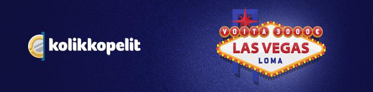 Voita 3000€ Vegas-loma Kolikkopeleiltä