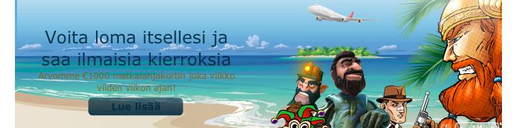 Pelaa MariaCasinolla - osallistut matkalahjakorttien arvontaan ja saat ilmaiskierroksia!