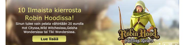 Maria Casino: pelaa 20 eurolla, saat 10 ilmaiskierrosta
