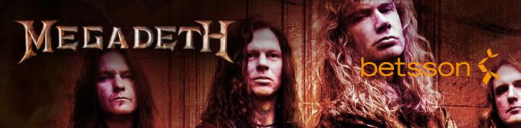 Betsson jakaa Megadethin kitaroita ja albumeita + ilmaiskierroksia casinolleen