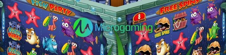 Microgaming julkaisee heinäkuussa Fish Partyn ja RoboJackin