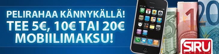 Casinohuone ja Kolikkopelit lanseerasivat uudet mobiilitalletukset