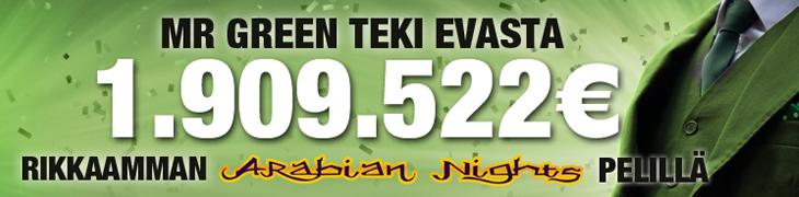 Ruotsalaisnaiselle 1.9 miljoonan euron jackpot Mr Greenillä!