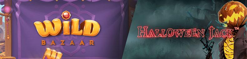NetEntiltä tuplapelijulkaisu – Halloween Jack ja Wild Bazaar nyt pelattavissa