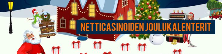 Netticasinoiden joulukalenterit 2013 - hae päivittäiset edut!