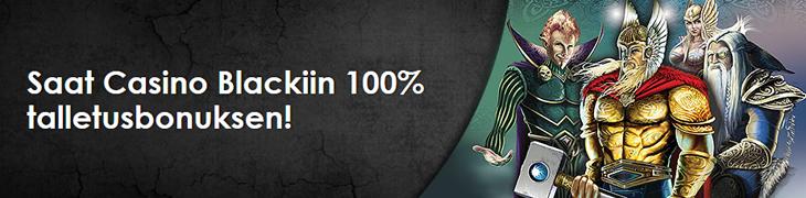 NordicBetiltä 100€ reload-bonus uuteen Casino Blackiin