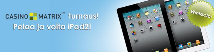 Voita iPad 2 NordicBetin Casino Matrix -turnauksesta