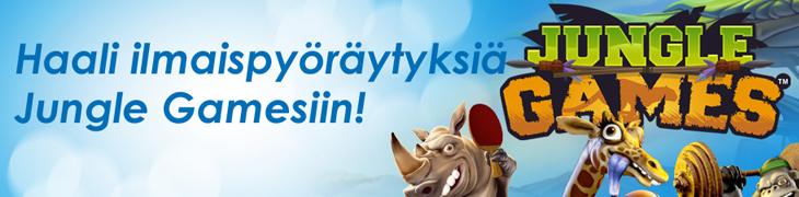 Pelaa NordicBetillä Jungle Games -uutuuspeliä - saat ilmaispyöräytyksiä