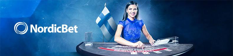 NordicBetiltä 50 euroa bonusta livecasinon puolelle
