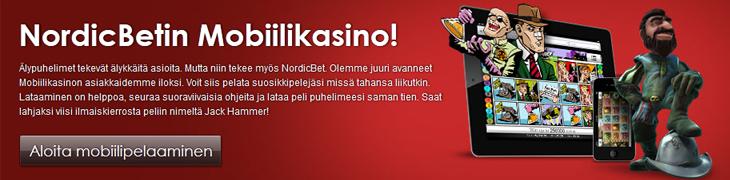 NordicBet avasi mobiilicasinon - kokeile ilmaiskierroksilla