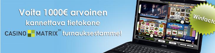 Voita kannettava tietokone NordicBetin Casino Matrix -turnauksesta