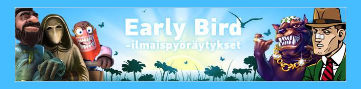Pafilla Early Bird -ilmaiskierroksia joka arkiaamu (Päivitetty)