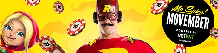 Päivittäisiä oikean rahan ilmaiskierroksia Rizkin Movember-kampanjasta
