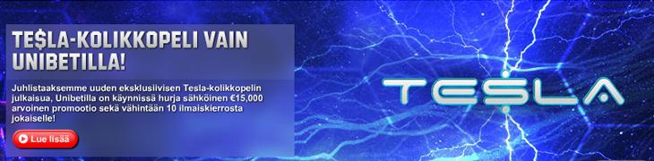 Unibet julkaisi Tesla-kolikkopelin - ilmaiskierroksia kaikille