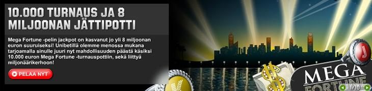 Unibetillä 10.000 euron Mega Fortune -turnaus