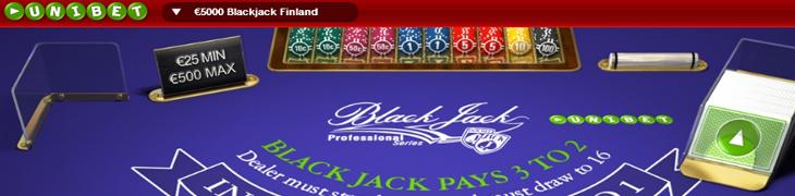Unibet järjestää 5000 euron Blackjack-turnauksen suomalaispelaajille