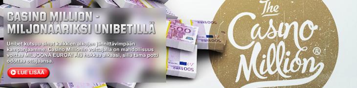 Suomalaismiehellä mahdollisuus voittaa miljoona euroa Casino Millionista