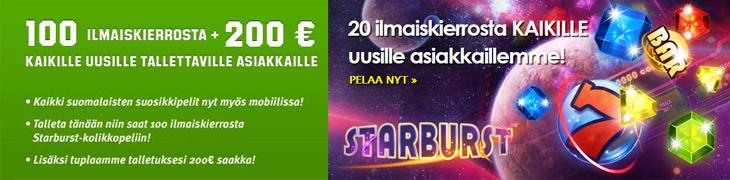 Unibet ja CasinoEuro päivittivät ilmaiskierros-tarjouksiaan