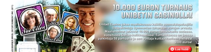 Unibetillä kymppitonnin Dallas-turnaus suomalaispelaajille - kokeile ilmaiskierroksilla!