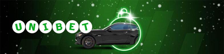 Pelaa Wild Christmasia Unibetilla ja voita tuliterä Ford Mustang